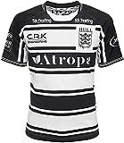 GYTH Camiseta de rugby de la Liga Británica, camiseta de entrenamiento para hombre de manga corta (color: negro, talla: XL)
