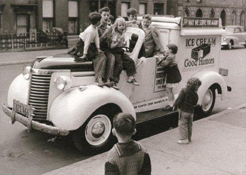 Kids On Ice Cream Truck - Avanti America Collection Birthday Card