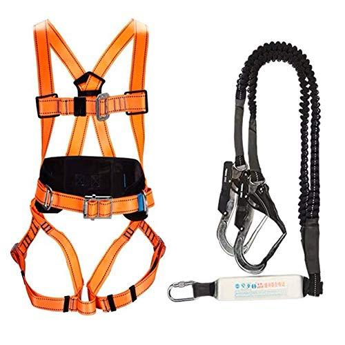 ZWWZ BAU-Sicherheitsgurt im Freien 5-Punkt-Ganzkörper-Adjustable mit Seil Fallschutz for Baustelle, Elektriker, Hochglasreinigung, Aerial Work HAIKE (Color : B)
