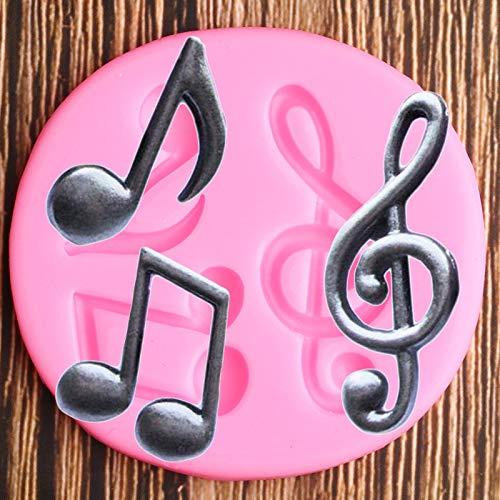 XIAOM Molde de Torta Moldes de Silicona Pastel Decoración Fondant Moldes Fondo DIY Cupcake Topper Decoración Chocolate Gumpaste Candy Moldes de Arcilla