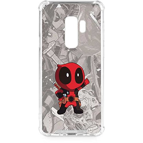 Skinit Clear Phone Case Compatible with Galaxy S9 Plus - Officially Licensed Marvel/Disney Deadpool Hello Design