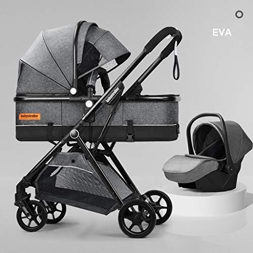 New FYJK Convertible Stroller Bassinet - Baby Bassinet Stroller - Newborn Carriage Stroller - Lightw...
