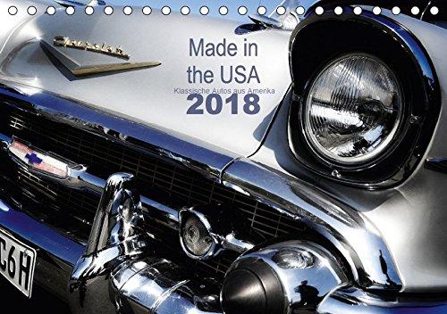 Made in the USA - Klassische Autos aus Amerika (Tischkalender 2018 DIN A5 quer): Alte Karossen in faszinierenden Detailaufnahmen (Monatskalender, 14 Seiten )