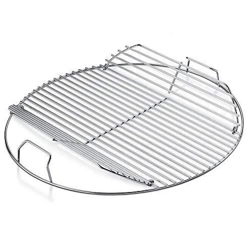 WKZYLKK Parrilla de cocción Redonda chapada en Acero con bisagras de 54,6 cm Piezas de Repuesto para Parrillas de carbón de 22,5'/...