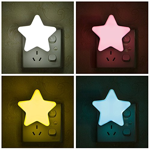Star Led Night Light, Plug In Night Light para niños, Baby, Mini Star Novedad Night Light, Lindas lámparas de pared Led de dibujos animados, Dormitorio Passageway Home Decor
