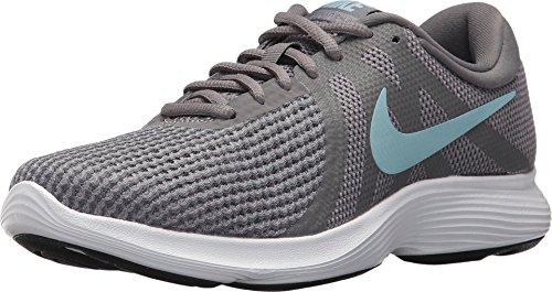 Nike Women's Revolution 4 Sneaker, Gunsmoke/Ocean Bliss-Dark Grey, 7.5 Wide US