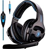Sades SA-810 Multi-platform Compatible Over-Ear Stereo Bass Gaming Headphone with Noise Isolation Microphone