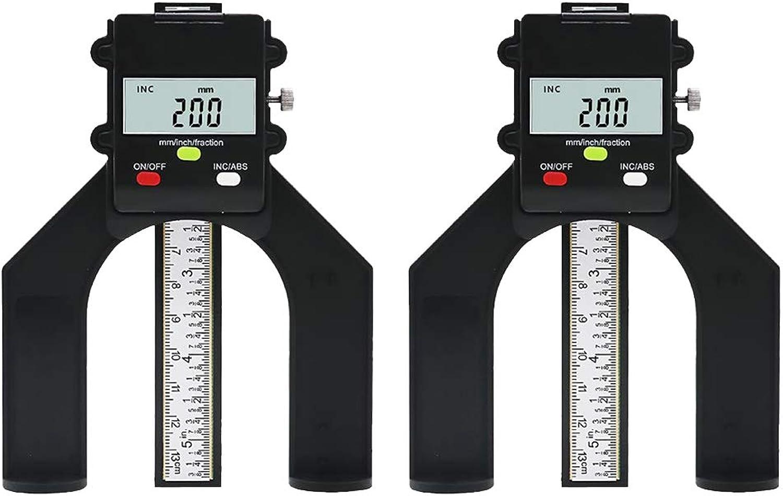 B Blesiya 2 Stück Stück Stück digitale Tiefenmesser Tiefenlehre Magnetischer Höhenmesser für Holzbearbeitung Oberfräser, hohe Genauigkeit, 0-80mm B07JDQG34G | Ausgezeichnetes Handwerk  22dedb