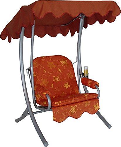 Angerer Single Hollywoodschaukel Korfu, Terracotta, 1-Sitzer