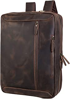 mens leather backpack briefcase