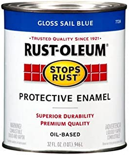 Rust-Oleum 7724502 Protective Enamel Paint Stops Rust, 32-Ounce, Gloss Sail Blue