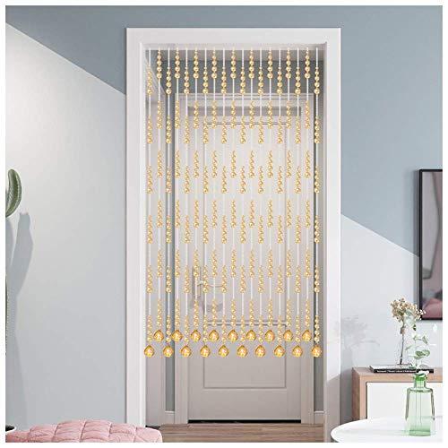 ZXL Moderne kristal kralen gordijn opknoping snaren deur trim kamer scheidingswand woonkamer balkon kast (kleur: a, grootte: 21 strengen-70cmx176cm)