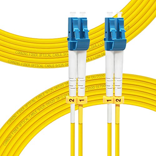 FLYPROFiber 8M OS2 LC to LC Fiber Patch Cable | Length Options:...