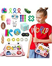 AM ANNA Sensory Fidget Toys Set,33 Pack Simple Dimple Fidgets Toy for Kids Adults Stress Relief and Adult Anxiety Relief ADHD Autism Therapy Figetget Fidgeting Game