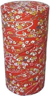 スイト 茶筒 和紙張り 200g レッド 025209