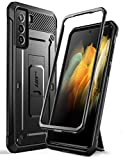 SUPCASE Unicorn Beetle Pro Series Case Designed for Samsung Galaxy S21 5G (2021 Release), Full-Body Dual Layer Rugged Holster & Kickstand Case Without Built-in Screen Protector (Black)