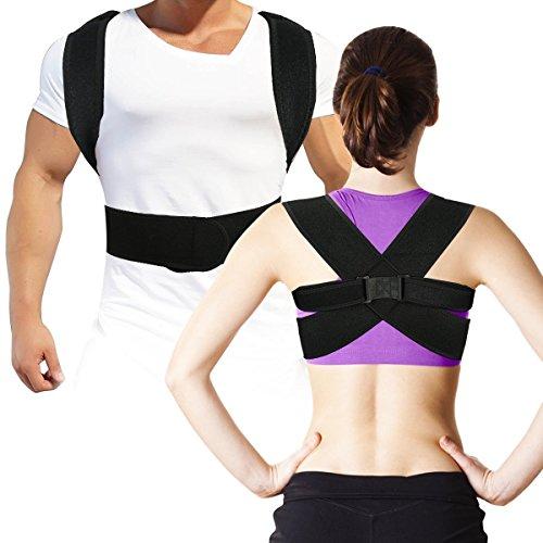 Geradehalter zur Haltungskorrektur- Rückenstütze und Bandage zur Korrektur der Körperhaltung, Haltungstrainer zur Unterstützung für den oberen Rücken – gegen Nacken- und Schulterschmerzen M