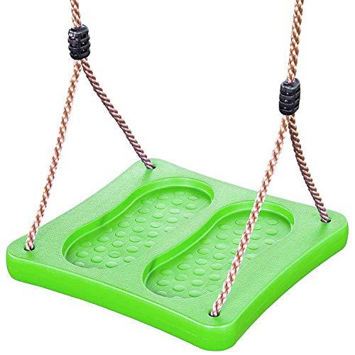 Staande schommel/voetschommel van kunststof, groen