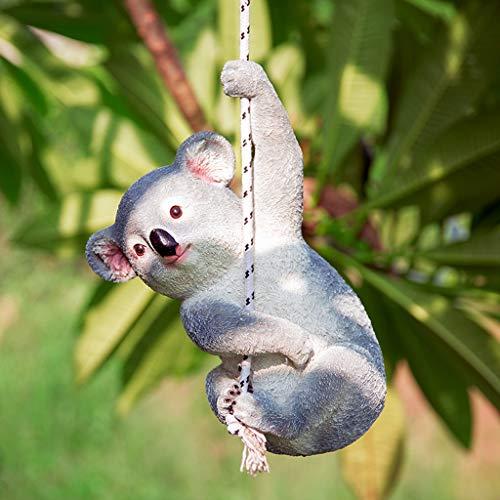 NYKK Ornamento de Escritorio Escultura Creativa Decoraciones del jardín Jardín Muebles de jardín Animal Decoración Resina Koala Adornos artesanías decoración