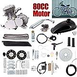 Kit de motor de 2 tiempos de gasolina para bicicleta motorizada de 80 cc con cilindro único refrigerado por aire, hágalo usted mismo