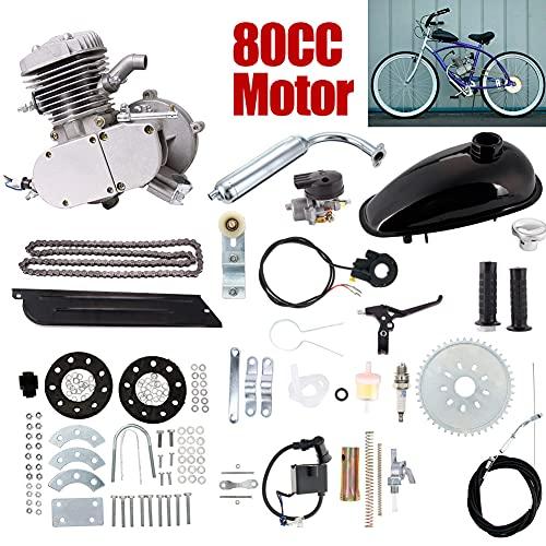 Kit fai da te bicicletta per motore a benzina a due tempi con monocilindro raffreddato ad aria 80cc, kit per bicicletta motorizzata