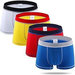 Men's underwear 4pcs/Man Underpants Men's Cotton Boxers Breathable Underwear Men Boxershorts Patchwork Comfortable Boxer chunjiao (Color : Green, Size : XLarge)