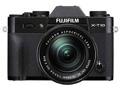 Fujifilm X-T10 Black Mirrorless Digital Camera Kit with XC16-50mm F3.5-5.6 OIS II Lens (Old...