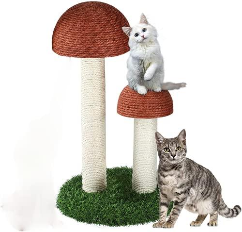 di Altezza Fungo Gatto Tiragraffi con 2 Durevole Naturale Sisal Cat Scratchers Dotato di Piccolo Gatto Tree House Mobili Giocattoli di Formazione Giocattoli Gattini