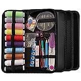 Meilo Kit de Costura, Suministros de Costura avanzados de Bricolaje, Mini Kit de Costura portátil para Principiantes, viajeros, reparación de Ropa de Emergencia, Bordado, (78Pcs)