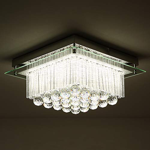 Horisun Modern K9 Crystal Raindrop LED Chandelier Dimmable...
