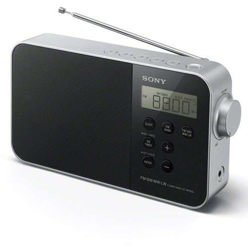 Sony ICF-M780SL - Radio portátil (FM/SW/MW/LW, pantalla LED, Antena FM , Fuente de alimentación DC/AC), negro