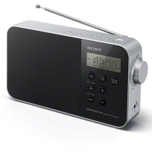 Sony ICF-M780 Tragbares, digitales Uhrenradio(UKW/KW/MW/LW-Tuner, LED-Beleuchtung, Alarmfunktion, Netzteil- oder Batteriebetrieb) schwarz