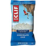 CLIF BARS - Energy Bars - Chocolate Chip Made with Organic Oats Plant Based Food Vegetarian Kosher (2.4 Ounce Protein Bars, 18 Count) Packaging May Vary