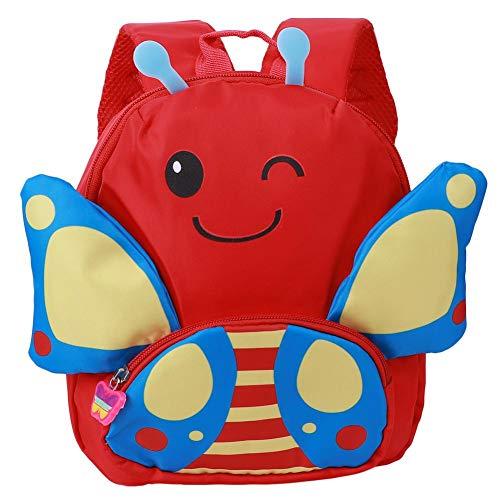 Mochila para bocadillos, Bolsa Preescolar Duradera y Duradera, garantía de Calidad para niñas, niños en Edad Preescolar de Viaje(Red)
