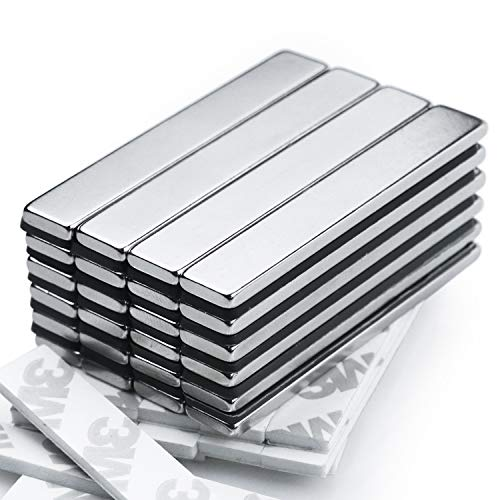 Strong Magnet - 25 Pack Neodymium Bar Magnets, Powerful Rare Earth Magnets - Industrial Strength NdFeB Magnet Set for Fridge, DIY, Crafts - 60 x 10 x 3 mm