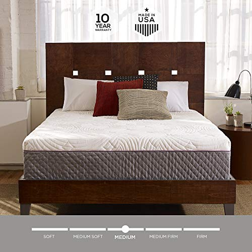 Sleep Innovations Shiloh 12-inch Memory Foam Mattress, Bed in a Box, Quilted Cover, Made in The...