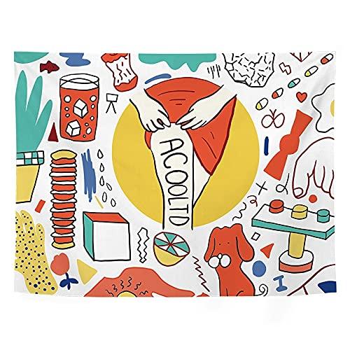 Hogar Fondo Coreano Linda Chica Tapiz Colgante de Pared Kawaii Tapiz decoración de la Pared decoración de la habitación Mural A8 95x73cm