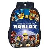 QWEIAS Mochila para niños - Roblox 3D Toddler Kids Mochila Escolar para niños pequeños - Rucksack para 3-10 años – Regalo F