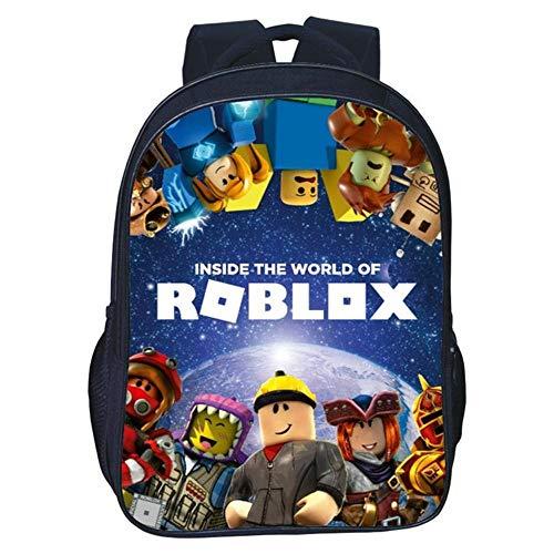 QWEIAS Mochila para niños - Roblox 3D Toddler Kids Mochila Escolar para niños pequeños - Rucksack para 3-10 años –...