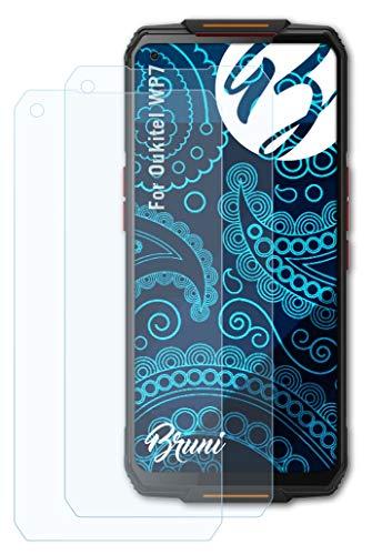 Bruni Schutzfolie kompatibel mit Oukitel WP7 Folie, glasklare Bildschirmschutzfolie (2X)