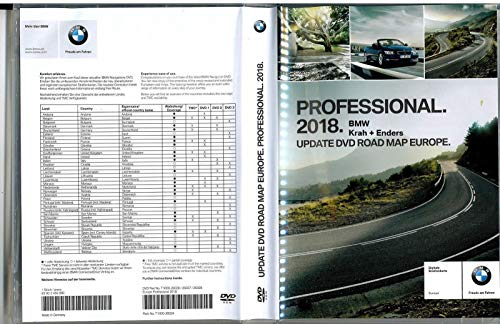 BMW Navi Update Professional 2018 DVD Road Map Europe