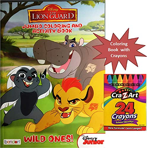 The Lion Guard Jumbo Coloring & Activity Book with Crayons