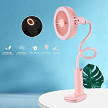 YXZQ Handheld Fan, Clip-on Personal Table Lamp Design with 2 Speeds with Rechargeable 1500mah Battery Quiet Operation for ...