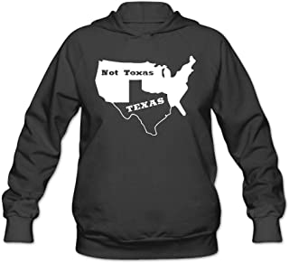 Women's Long Sleeve Pullover Sweatshirt Texas Not Texas Secede Austin Dallas Oil Longhorn Hoodie Without Pockets