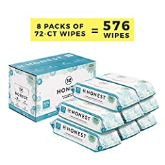 HONESTLY CLEAN: Honest Wipes provide the convenience of a disposable cloth baby wipe in a hypoallergenic and plant-based alternative: the wipe that can do it all, from wet bottoms and messy fingers, to sticky counters. PURE & GENTLE: These hypoallerg...
