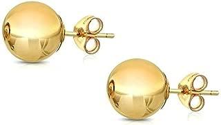 Best gold ball earrings 8mm Reviews