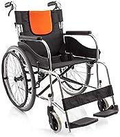 BXU-BG 車椅子アルミ合金旧折りたたみ軽量車椅子、ポータブルトロリー車椅子