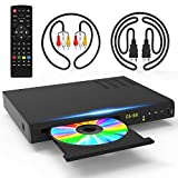 1080P Blu Ray DVD Player for TV with 5ft HDMI AV Cables DTS