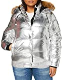 Superdry A4-Padded Chaqueta, Silver Metallic, 10 para Mujer