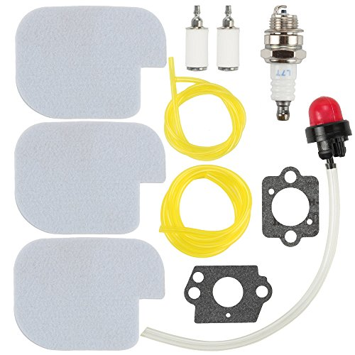530057925 530069247 Air Filter 530095646 Fuel Filter with Fuel Line Spark Plug Gasket Primer Bulb for Poulan Craftsman Chainsaw P3314 P3416 P3816 P4018 PP3416 PP3516 PP3816 PP4018 PP4218 PPB3416